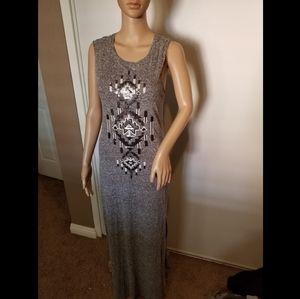 Express Sequin Maxi Dress